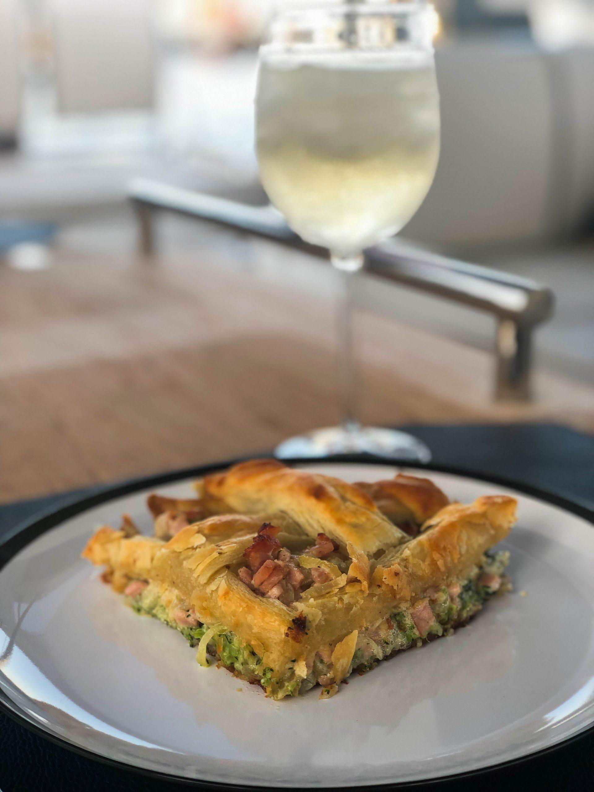 Broccoli Gorgonzola Pie Sliced