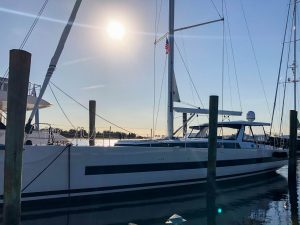 Yacht in marina - DOUBLESTAR
