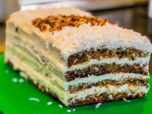 Side view of Carrot Cake