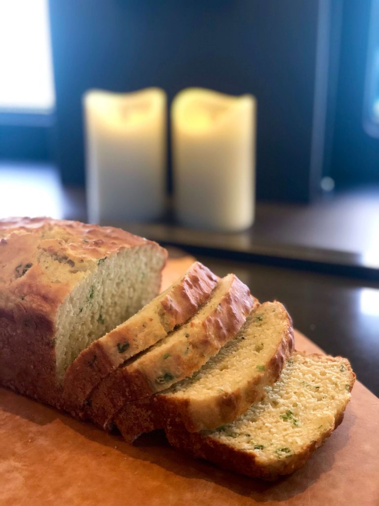 Sliced Cheese and Herb Bread