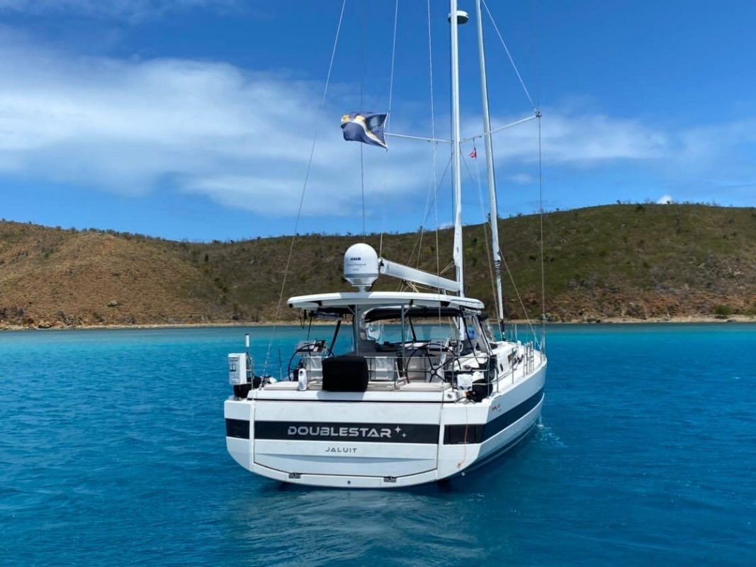 Anchored off White Bay